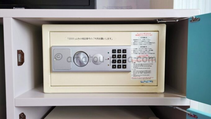 東京ディズニーセレブレーションホテル ウイッシュのスーペリアルームのセーフティボックス