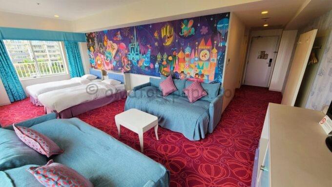 東京ディズニーセレブレーションホテル ウイッシュのスーペリアルーム(出入口方面)