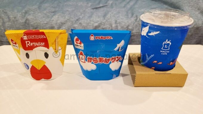 東京ディズニーセレブレーションホテル ウイッシュのコンビニ(ウィッシュ スナック&サンドリー)で購入したからあげクンとコーヒー