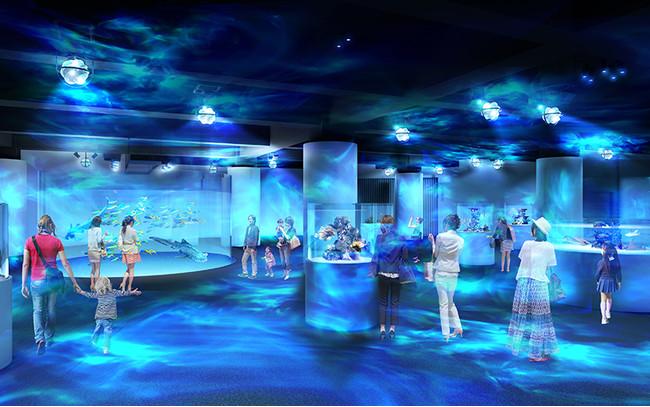 新感覚水族館atoa(アトア)の海中世界を体現した「MARIN NOTE-生命のゆらぎ」