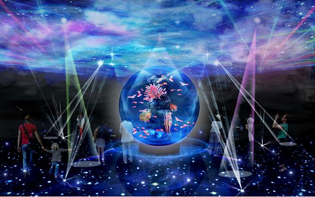 新感覚水族館atoa(アトア)の宇宙空間や深海の世界を体現する「PLANETS-奇跡の惑星」