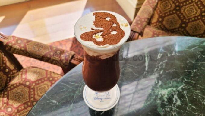 ドリーマーズ・ラウンジのオリジナルコーヒー「アイスカフェモカ ア・ラ・ディズニー(ラプンツェル)」